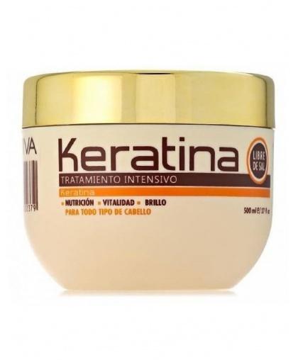 KERATINA интенсивно восстанавливающая маска с кератином для поврежденных и хрупких волос 500мл Kativa