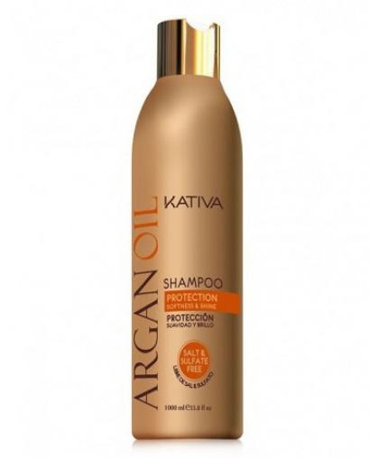 Kativa ARGANA Увлажняющий безсульфатный шампунь с маслом Арганы, 250 мл