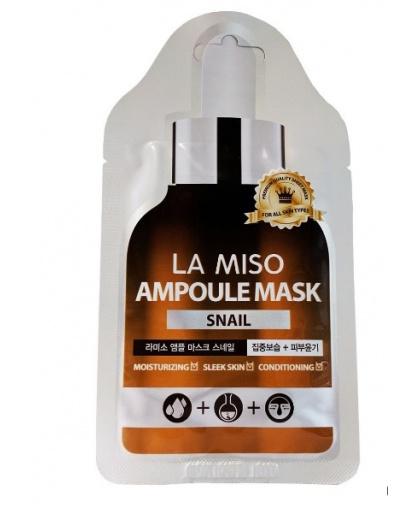 La Miso Ампульная маска-салфетка с экстрактом слизи улитки, 25 гр