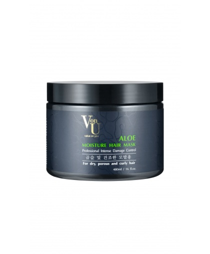 Маска для волос увлажняющая с алое вера ALOE Moisture Hair Mask, Von-U Limoni