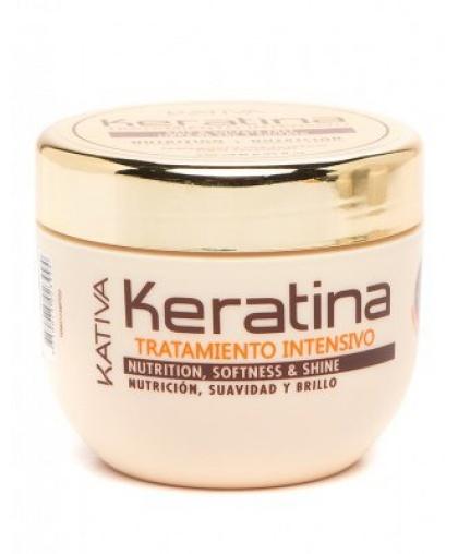 Интенсивно восстанавливающая маска Kativa KERATINA с кератином для поврежденных и хрупких волос 250мл