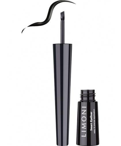 Подводка со скошенным аппликатором Limoni Smart Eyeliner 01 чёрная
