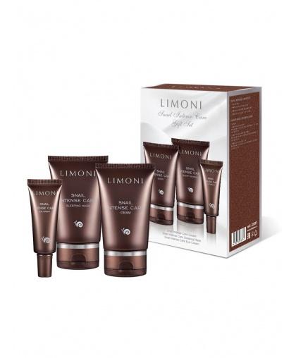 Набор Limoni Snail Intense Care Set  (Cream 50ml+Eye Cream 25ml+Sleeping Mask 50 ml)